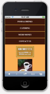 Coffeshop and Cafe mobile websites